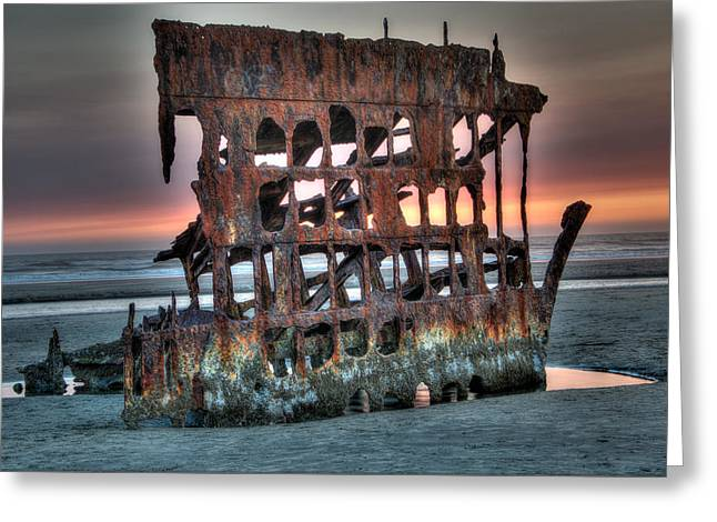 Hdr Peter Iredale Greeting Card by James Hammond