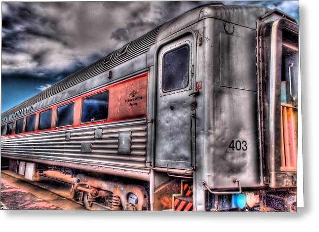 Hdr Train Greeting Card by DH Visions Photography