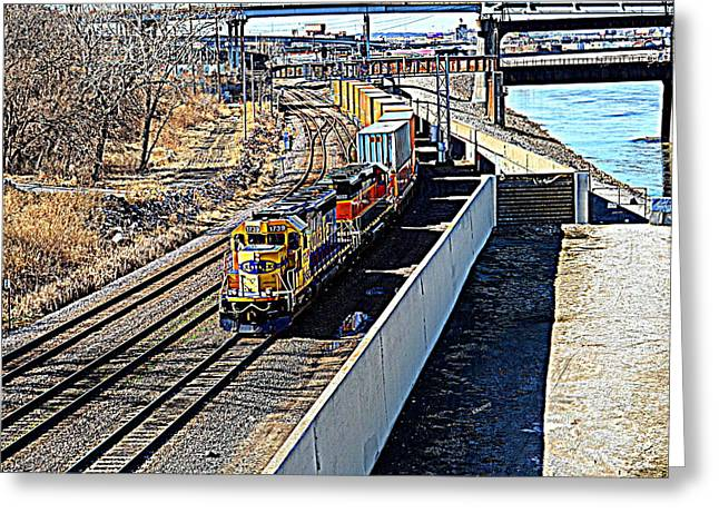 Hdr Train Greeting Card