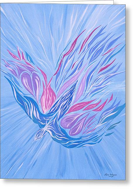 Greeting Card featuring the painting He Brings Healing by Lula Adams