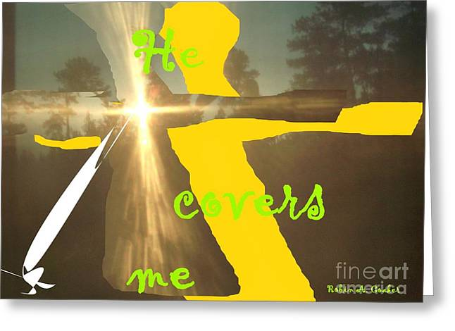 He Covers Me Lll Greeting Card