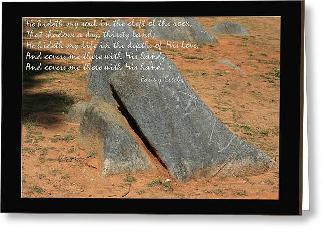 He Hideth Me In The Cleft Fanny Crosby Hymn Greeting Card