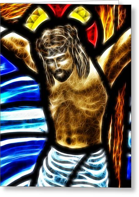 He Hung In There 2 Greeting Card by Karen Showell