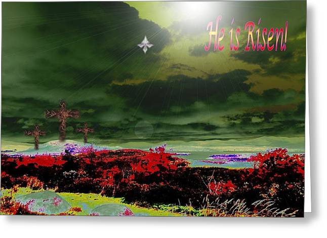He Is Risen Greeting Card by Mike Breau