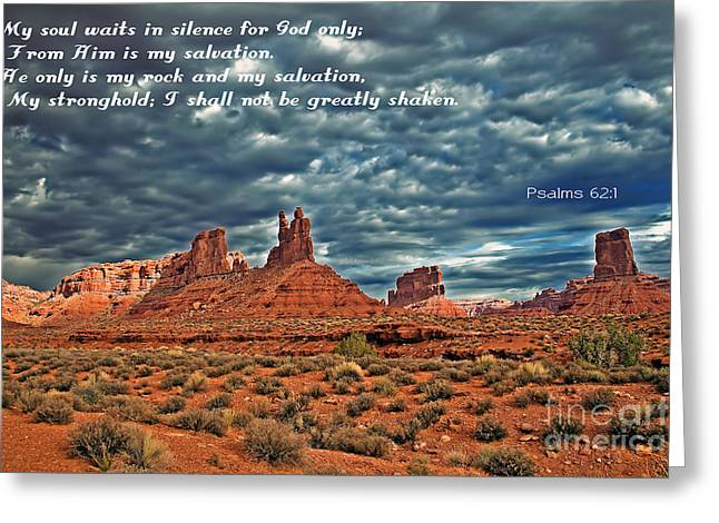He Only Is My Rock Greeting Card by Robert Bales