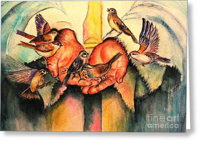 He Will Provide Greeting Card by Hazel Holland