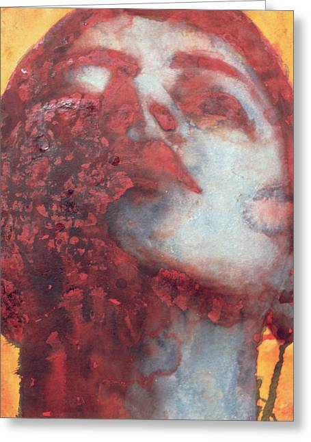 Head Greeting Card by Graham Dean