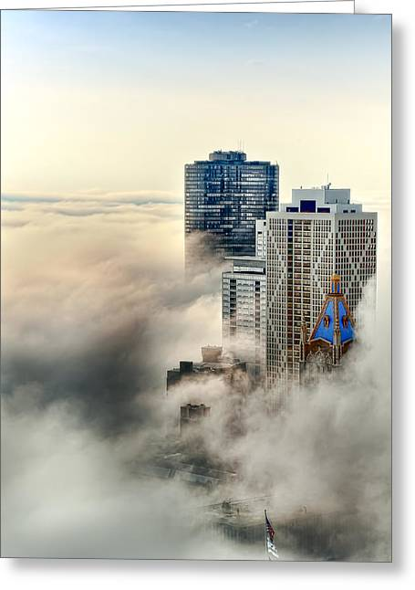 Head In The Clouds Greeting Card by John Harrison
