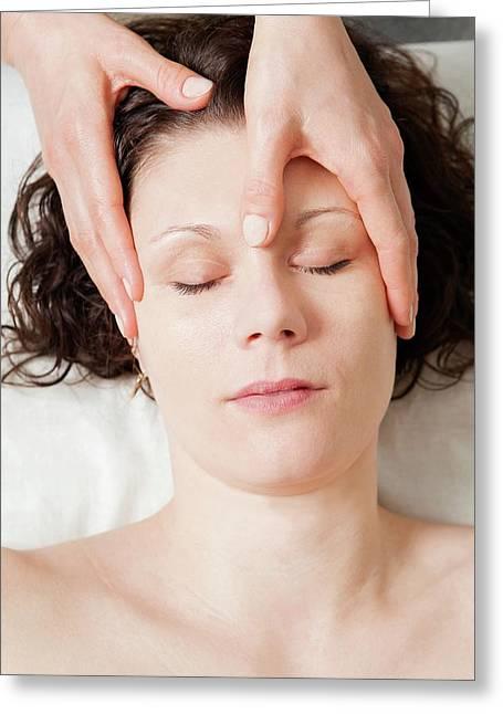 Head Massage Greeting Card