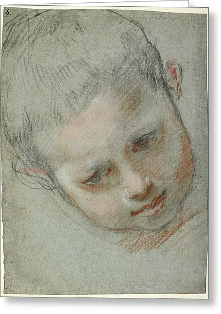 Head Of A Boy Recto,  Figure Studies Verso Federico Barocci Greeting Card by Litz Collection