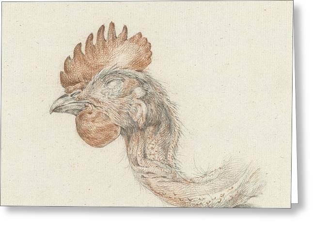 Head Of A Dead Chicken, Jean Bernard Greeting Card