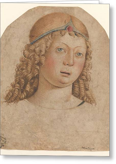 Head Of A Youth With A Diadem Greeting Card by Cristoforo Caselli