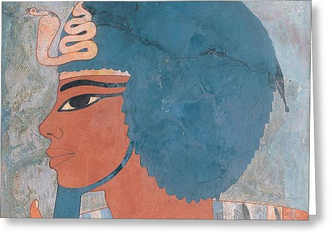 Head Of Amenophis IIi From The Tomb Of Onsou, 18th Dynasty Greeting Card by Egyptian 18th Dynasty