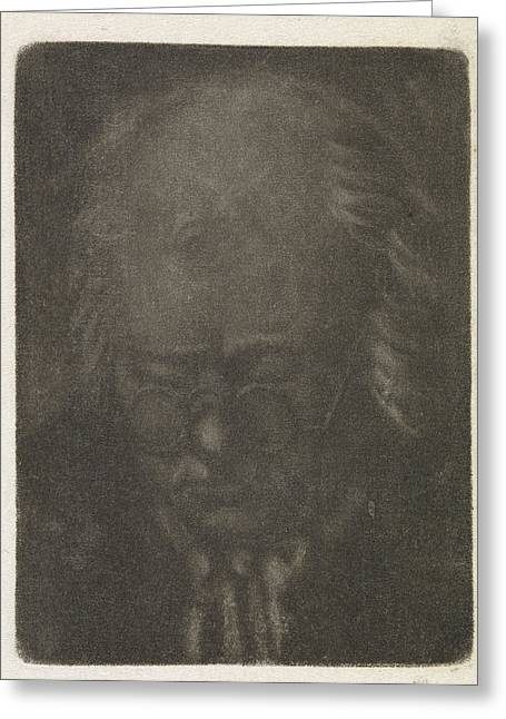 Head Of An Old Man With Glasses, Anthonie Van Den Bos Greeting Card