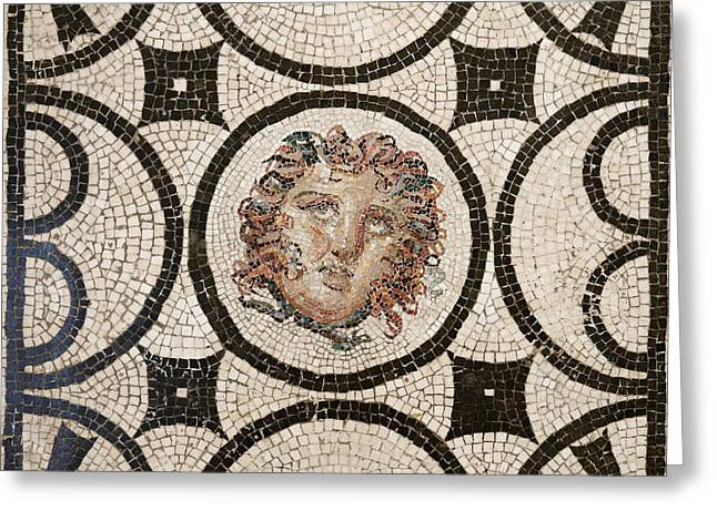 Head Of Medusa Greeting Card by Unknown