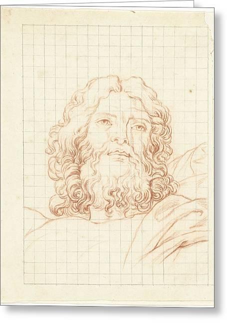 Head Of Resurrecting Christ, Bernard Picart Greeting Card
