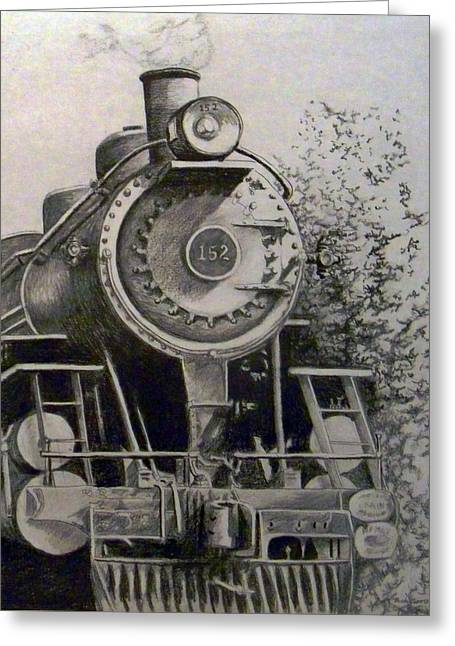 Head Of Steam Greeting Card by Rick Moore