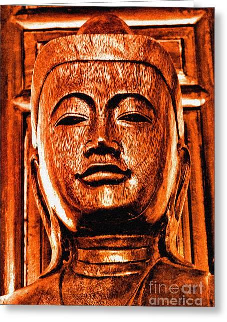 Head Of The Buddha Greeting Card