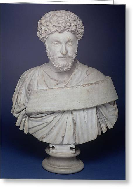 Head Of The Emperor Marcus Aurelius Greeting Card by Roman School
