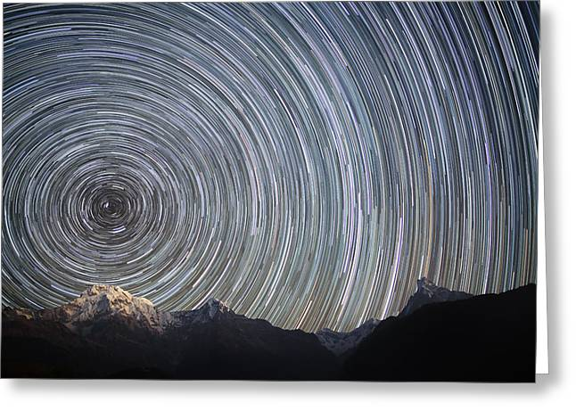 Head Spinning Himalayas Greeting Card by Anton Jankovoy