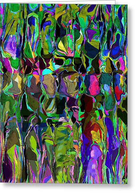 Head Voices Greeting Card by David Lane