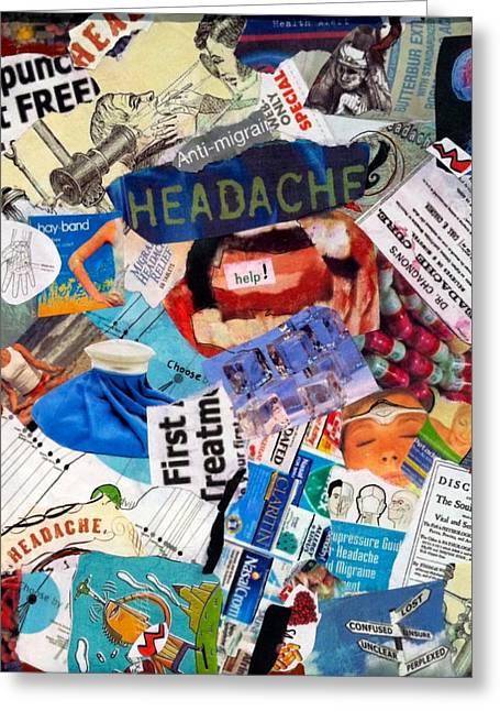 Headache Greeting Card by Susie Stockholm