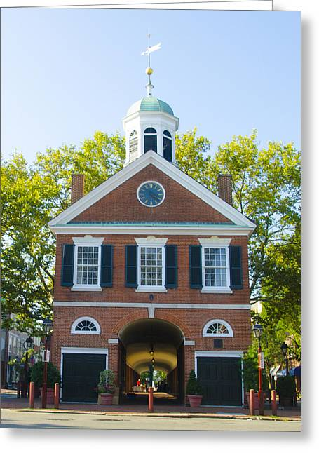 Headhouse Square - Philadelphia Greeting Card by Bill Cannon