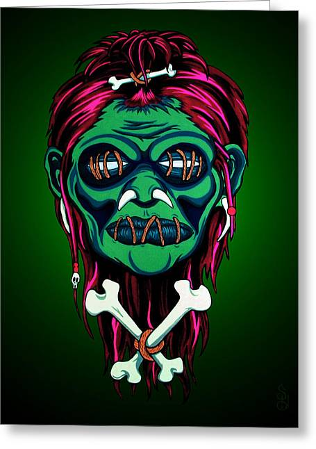 Headhunter Greeting Card by Steve Hartwell