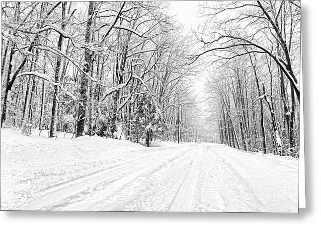 Heading For Davis West Virginia After Snow Storm Greeting Card by Dan Friend