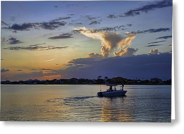 Greeting Card featuring the photograph Heading For Harbor by Tim Stanley