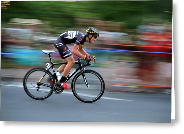 Greeting Card featuring the photograph Heading For The Finish Line by Kevin Desrosiers