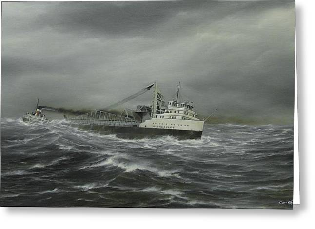 Heading For The Point Greeting Card by Captain Bud Robinson