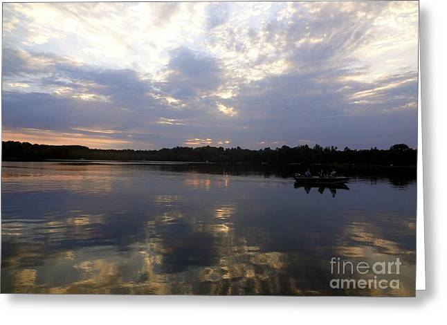 Greeting Card featuring the photograph Heading Home On Lake Roosevelt In Outing Minnesota by Jacqueline Athmann
