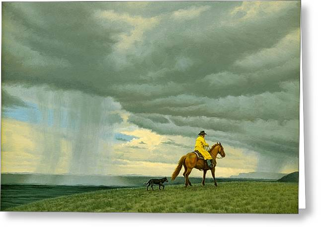 Heading Home Greeting Card by Paul Krapf