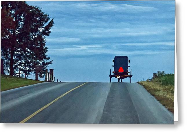 Heading Home Greeting Card by Priscilla Burgers