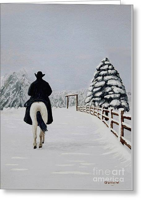 Heading Home Greeting Card by Shirley Miller