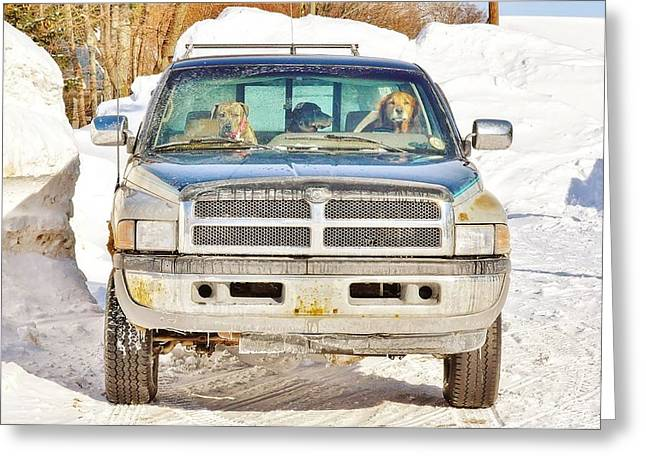 Heading To Bark River Greeting Card
