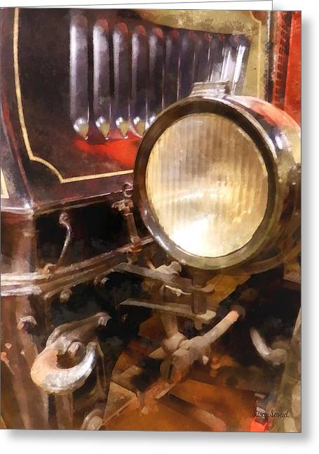 Headlight From 1917 Truck Greeting Card by Susan Savad