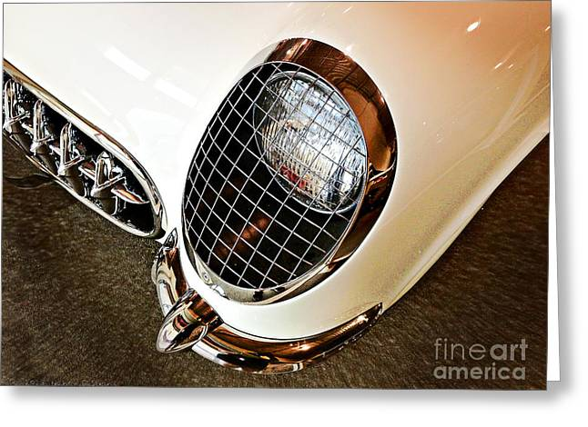 Headlight Greeting Card by Nancy E Stein