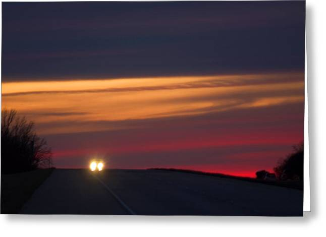 Greeting Card featuring the photograph Headlights by Bob Pardue