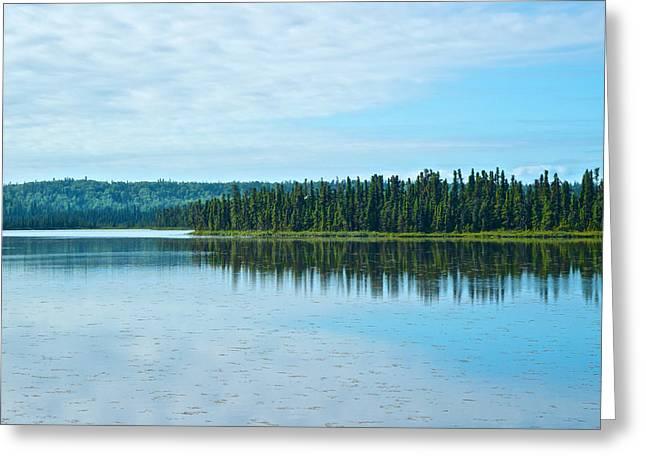 Headquarters Lake In Kenai National Wildlife Refuge In Soldotna-alaska Greeting Card