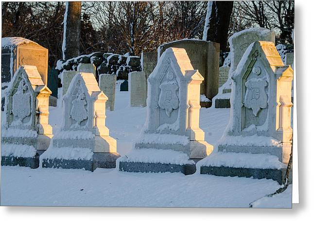 Headstones In Winter 2 Greeting Card