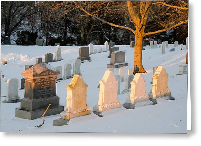 Headstones In Winter 3 Greeting Card