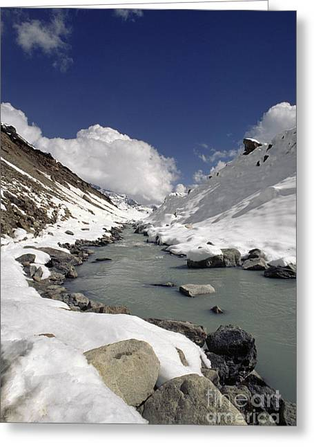 Headwaters Of Barun Khola - Makalu Base Camp Greeting Card