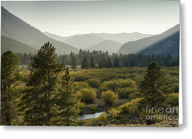 Headwaters Of The Big Lost River Greeting Card