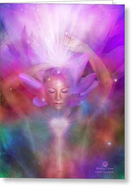 Healing Crown Greeting Card by Carol Cavalaris