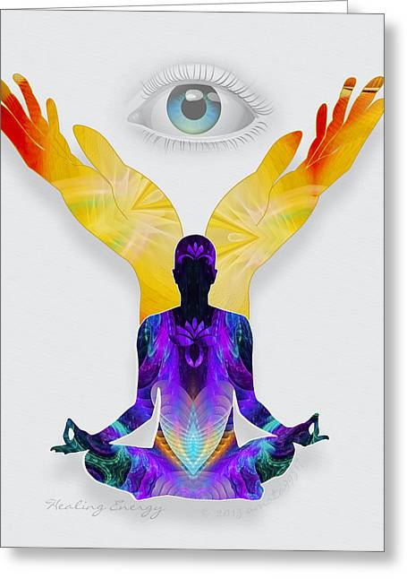 Healing Energy Greeting Card by Gayle Odsather