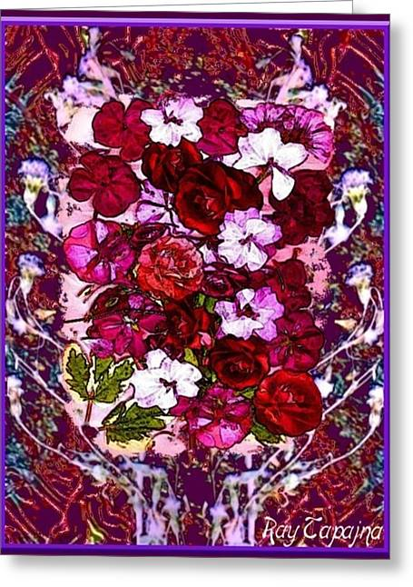 Healing Flowers For You Greeting Card by Ray Tapajna
