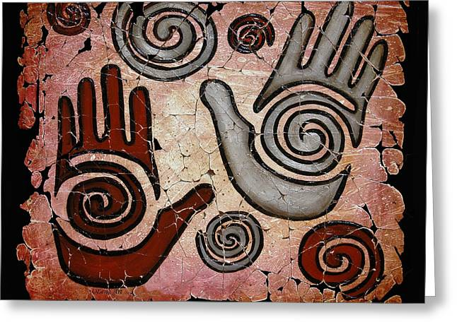 Healing Hands Fresco Greeting Card