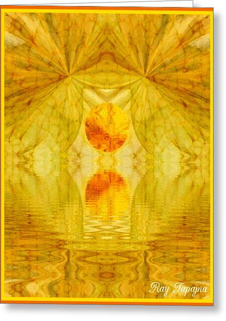 Healing In Golden Sunlight Greeting Card by Ray Tapajna